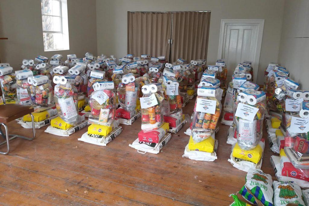 Food parcel distribution